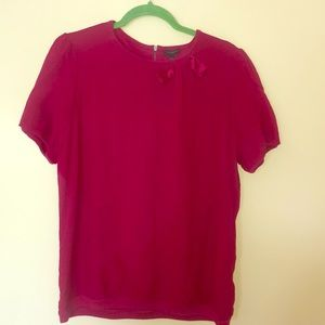 Ann Taylor red bow blouse